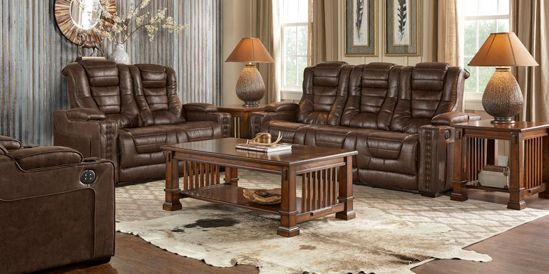 Leather Reclining Living Room Sets & Packages