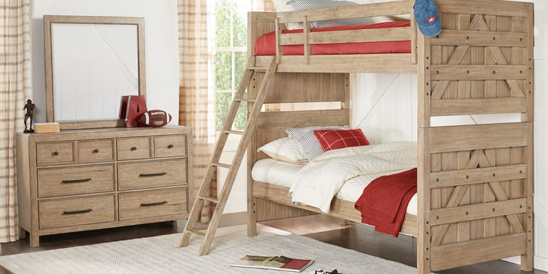 Midcity Loft Sandstone Twin Bunk Bed