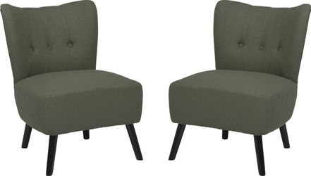 Swell Neeva Gray Accent Chair Set Of 2 Caraccident5 Cool Chair Designs And Ideas Caraccident5Info