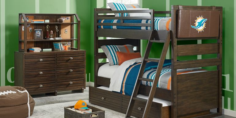 Nfl 1st Goal Miami Dolphins Brown Full Bunk Bed
