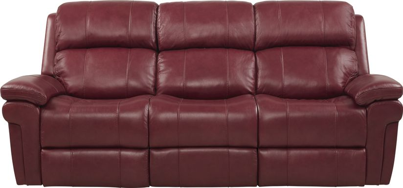 Red Leather Sofas & Couches